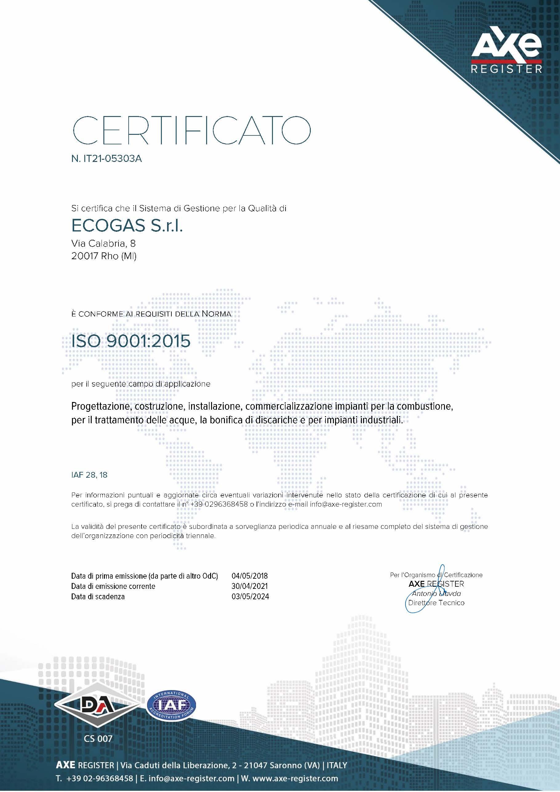 Certificato-ECOGAS-SRL-IT21-05303A